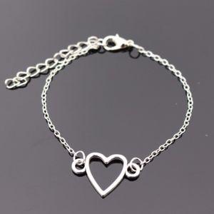 Jewelry - Dainty Silver Open Heart Charm Bracelet